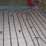 Fußbodenheizung Tacker-System